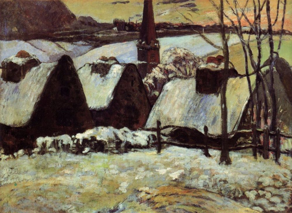Gauguin_Breton village in the snow